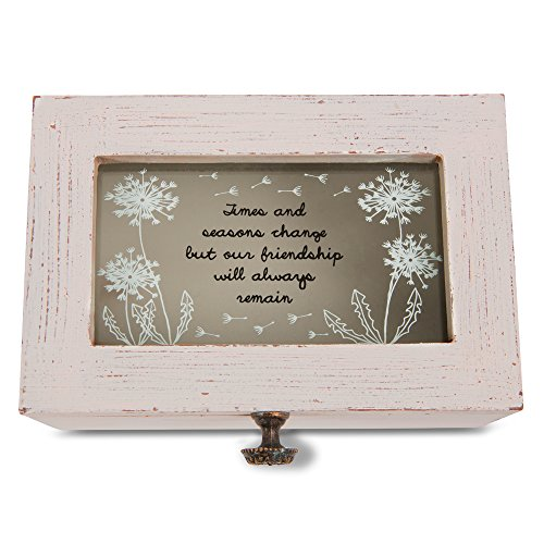 Pavilion Gift Company 77119 Dandelion Wishes - Times and Seasons Change but Our Friendship Will Always Remain Vintage Style Jewelry Box with Glass Window (Box Window Company)
