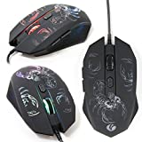 USB Gaming Mouse with LED Colour Changing Scorpion Design for Acer Predator 15, 17, 17X & 21X Laptops - by DURAGADGET