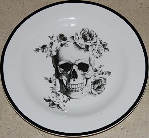 Ciroa Halloween Wicked Floral Skull 8-1/8