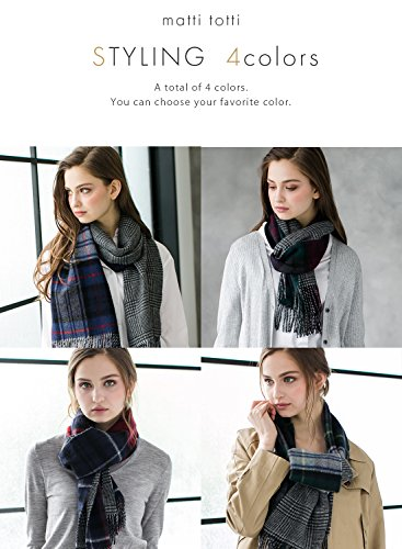 Green X Navy 100% Cashmere Reversible Scarf Muffler Women Gift Scarves Wrap Blanket C0211B1-2 by matti totti (Image #6)