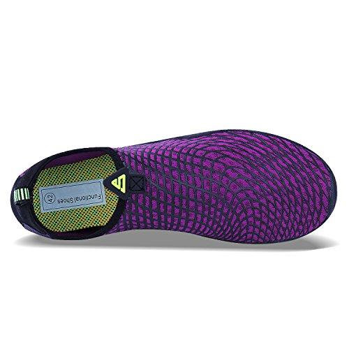 Qzbaoshu Surf viola Walking Scarpe Diving Acquatici Donna 3 Sport Beach Swim Water Shoes Uomo 8xrFwq8O