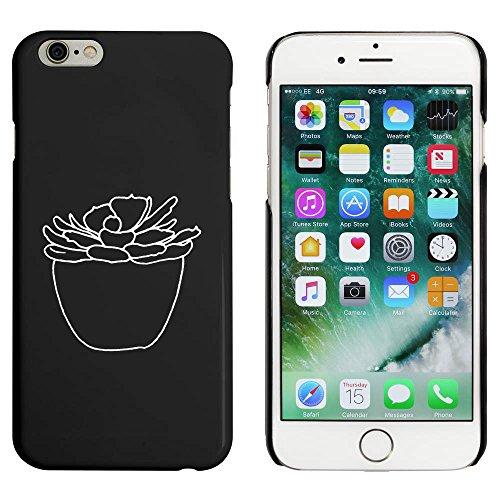 Noir 'Plante Succulente' étui / housse pour iPhone 6 & 6s (MC00090712)