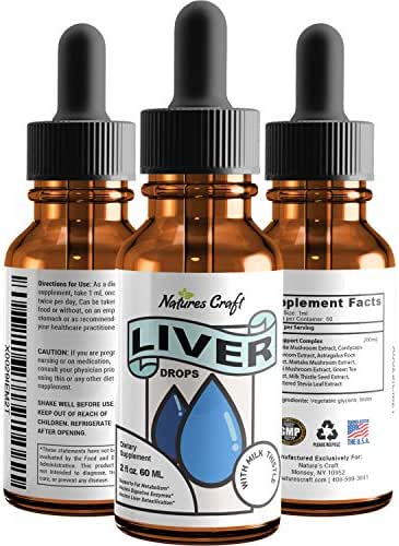 Natural Liver Cleanse Liquid Drops - Liver Detox with Milk Thistle - Kidney Support Supplement - Immune Support Formula - Daily Energy Booster - Chanca Piedra Green Tea and Reishi Mushroom Extract