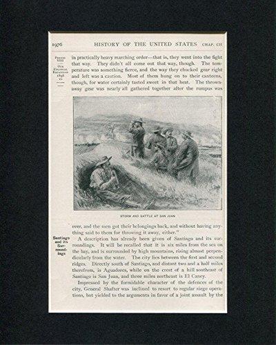 Storm And Battle At San Juan Spanish American War Original Book Photo Display