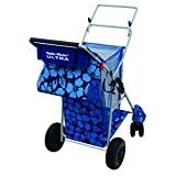 NEW! Wonder Wheeler Ultra Large Deluxe Beach Cart w/ Insulated Bag - WWC9 - Blue Hibiscus