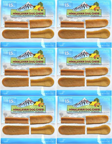 Hdc 4 Piece (HIMALAYAN DOG CHEW 100% NATURAL SMALL (3 - 4 PIECES) 6 PACK)