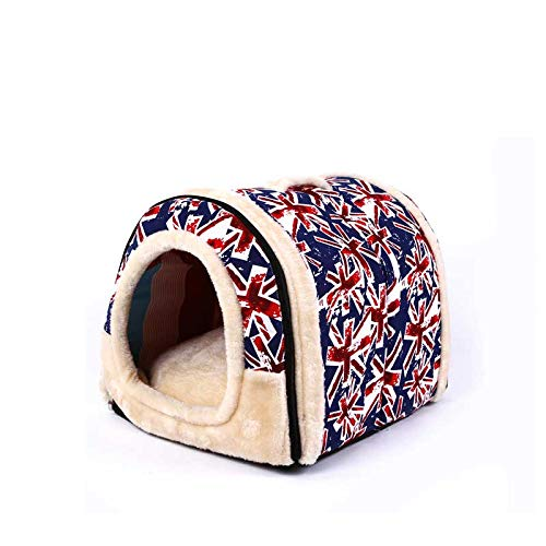 D 45X35X35cm D 45X35X35cm Cookisn Portable Pet Dog Cat House Foldable Pet Supplies Travel House Plush Cloth Kennel for Universal Pet Mat Dog Cat Bed Sofa 3 Size D 45X35X35cm