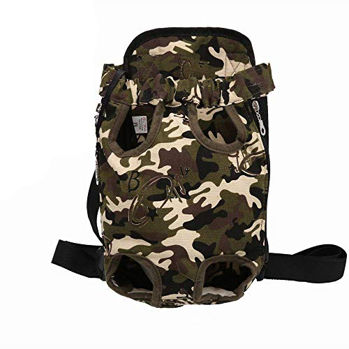 Legs Front Out Carrier (luciphia Pet Carrier Backpack Adjustable Legs Out Front Carrier Bag for Samll Medium Large Dogs Cats Camouflage XL)