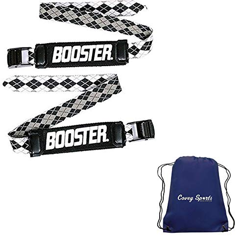 Booster Strap for Ski Boot Shin Bang Protection - (Available in SkiMetrix World Cup, Expert, Intermediate, and Kids Models) - Bundled with Covey Sports Bag