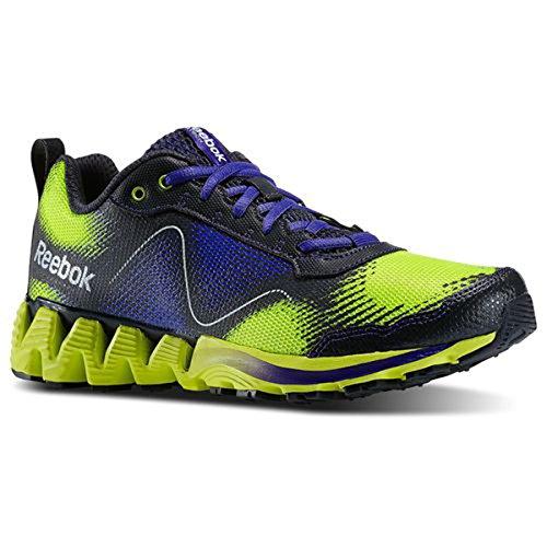 Reebok ZigKick Wild Womens Running Shoe 7.5 Gravel-Purple-Yellow