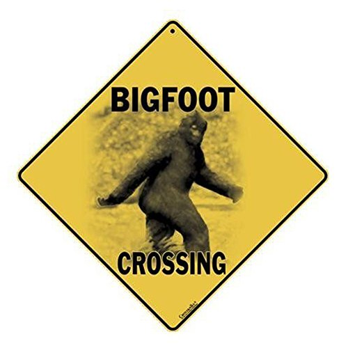 Square Metal Bigfoot Crossing Sign product image