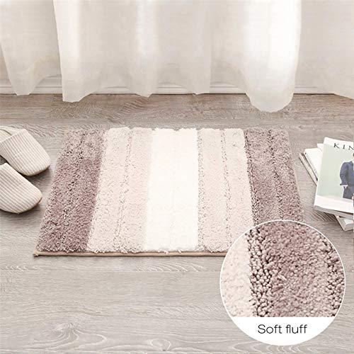 20x32 Inch Black Xuanmuque Door Mat Indoor Microfiber Absorbent Non-Slip Floor Mats Bathroom Rugs