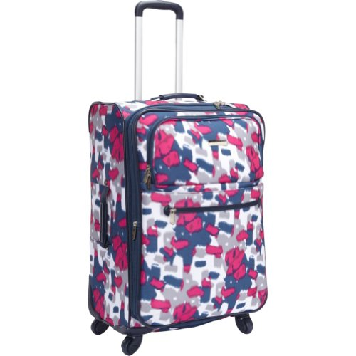 Anne Klein Luggage Getaway 2 24″ Exp. Spinner (Pink/Navy/Cream Print), Bags Central