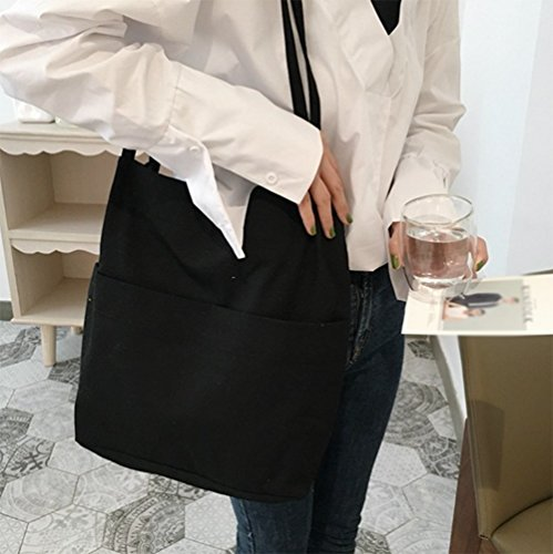 Wicemoon Sac à à l'épaule femme pour porter Noir rOrqwS8x