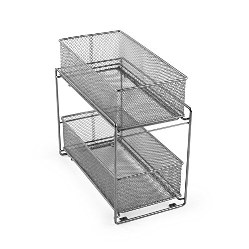 Cabinet Baskets Mesh Silver