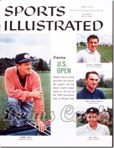 Bolt Thomson - Sports Illustrated - No Label June 8 1959 - Tommy Bolt Art Wall. Finsterwald Thomson (Magazine/Publication) (No Address Label on Front) Dean's Cards 3 - VG
