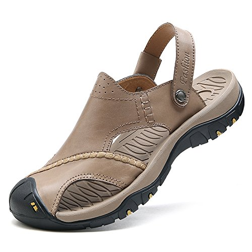 Usage Pour Double Décontractées Sport Hommes Cuir Chaussures Antidérapantes Pantoufles Kaki Nouvelles Sandales À Bas Plage Épais De Et D'été En aqdSS