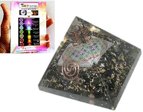 Exquisite A++ Black Tourmaline Flower of Life Chakra Orgo...