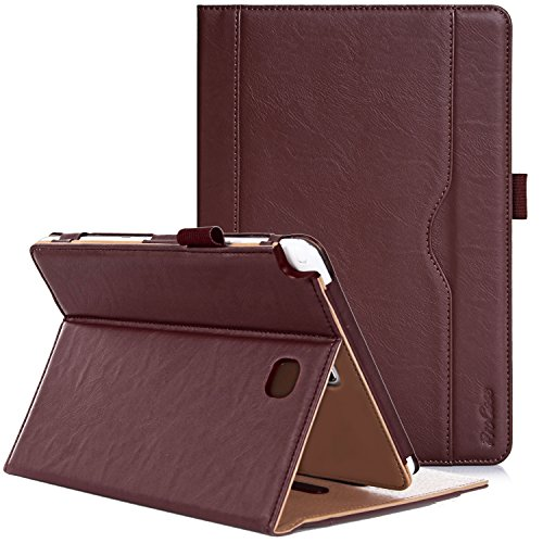 ProCase Samsung Galaxy Tab A 8.0 Case - Standing Cover Folio Case for 2015 Galaxy Tab A Tablet (8.0 inch, SM-T350 P350), with Multiple Viewing angles, auto Sleep/Wake, Document Card Pocket (Brown)