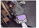 Sunnyhill 3D Jump Style 2D Drawing From Cartoon Paper Bag Comic Messenger Bag (Purple)