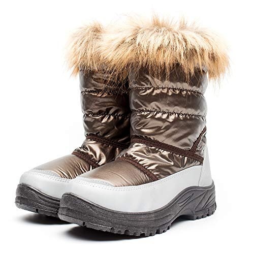 DRKA Women's Snow Boots with Fur Lined, Lady's Waterproof