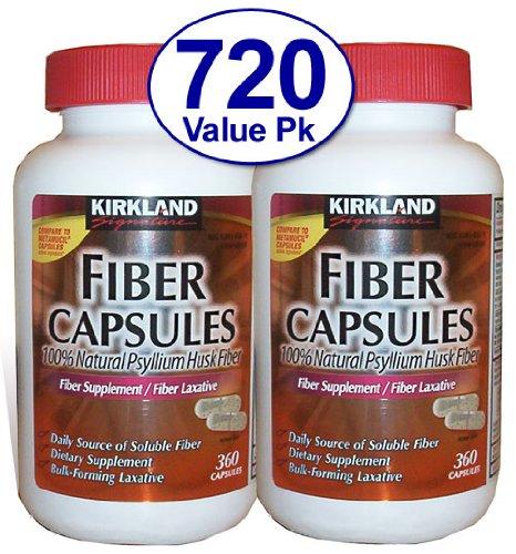 (Kirkland Signature Kirkland Fiber Capsules, 2 pack (360 Capsules each))