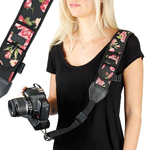 Camera Strap Shoulder Sling with Adjustable Floral Neoprene,
