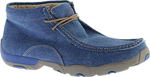 Twisted X Mens Blue Denim Driving Mocassini Moc Toe - Mdm0050 Denim