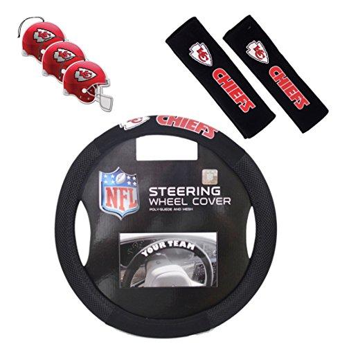 Fremont Die/TeamProMark Official National Football League Fan Shop Authentic Auto Accessories Bundle (Kansas City Chiefs)
