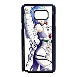 Plastic Durable Cover Bjngk Samsung Galaxy Note 5 Cell Phone Case Black Neon Genesis Evangelion Durable Phone Case