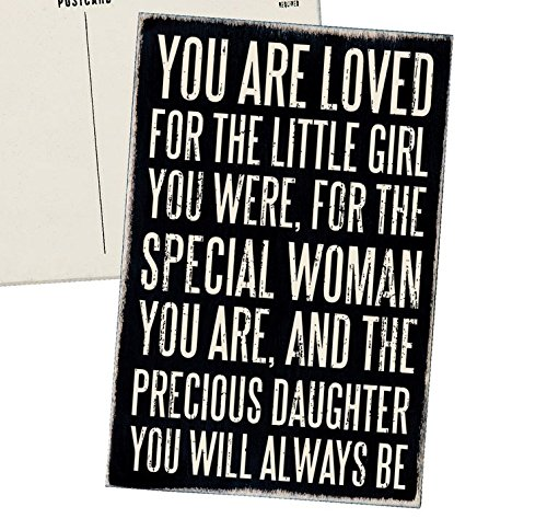 Womens Birthday Card (You Are Loved for the Little Girl You Were, For the Special Woman You Are, and the Precious Daughter You Will Always Be - Mailable Wooden Greeting Card for Birthdays,)