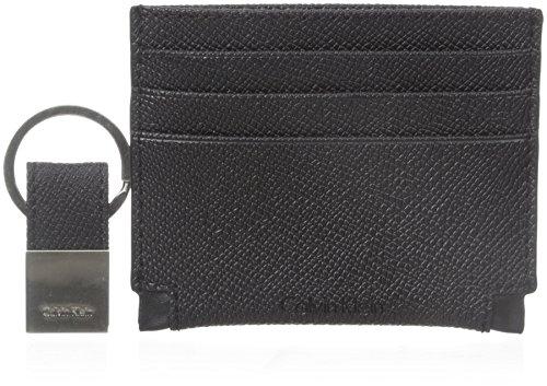 Calvin Klein Men's Cut Out Detail Card Case, Black, One Size