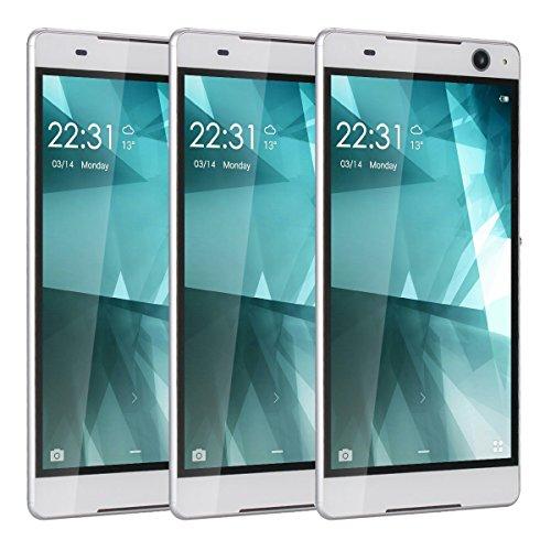 6.0 Cell Phones Unlocked Android 5.1 Quad Core Dual Sim GSM Quadband JUNING Smartphones White