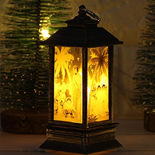 Snowman Tealight Lamp - Christmas Decoration Light, ZYooh Xmas Candle with LED Tea Light Lampion Flame Lamp Tealight Holder (B Snowman)