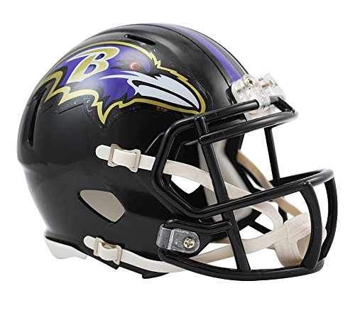Riddell Baltimore Ravens Speed Mini Football Helmet]()