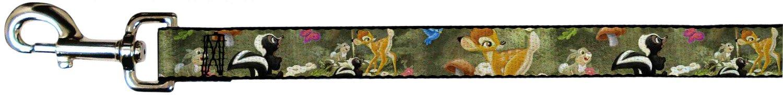 Buckle-Down Pet Leash Bambi & Friends Scene 6 Feet Long 1.5  Wide