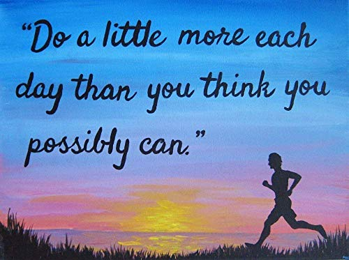 Do a Little More 8×10 Print Inspirational Quote Artwork Motivational Art Prints Gifts for Runners