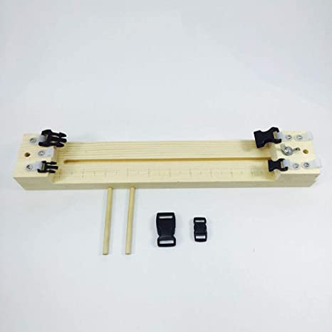 EDTara DIY Wood Paracord Jig Bracelet Maker Adjustable Weaving DIY ...