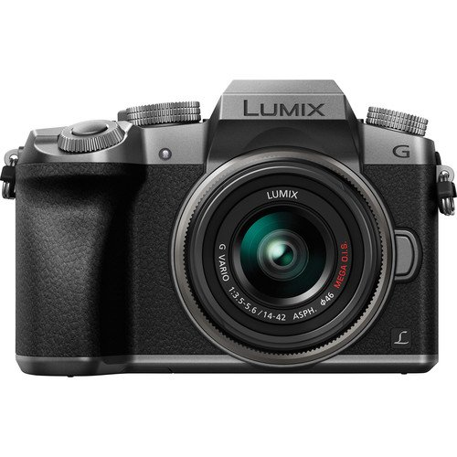 Panasonic Lumix DMC-G7 Mirrorless Micro Four Thirds Digital Camera with 14-42mm Lens (Silver) - International Version (No Warranty)