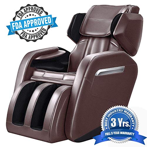 Roller Massage Chair - WOVTE Full Body Massage Chair, Zero Gravity & Air Massage, Foot Roller, Shiatsu Recliner with Heater Foot Roller and Vibrating (3 Years Warranty FDA Approved)