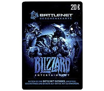 Carte Cadeau Blizzard.Blizzard Entertainment Battle Net Gift Card 20 Carte De