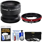 Olympus TCON-T01 Telephoto Converter Lens & CLA-T01 Adapter Ring Pack for Tough TG-3, TG-4 & TG-5 Camera with 3 UV/CPL/ND8 Filters Kit