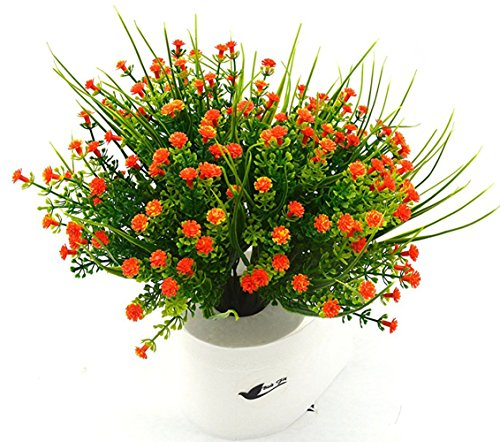 Bird Fiy Babys Breath Artificial Flowers,4 Bundles Gypsophila Flower Wedding Home Decor Gift(Orange)]()