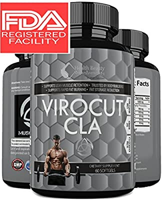 * VIROCUT EXTREME CLA * Best Cla Safflower Oil For Weight Loss And Belly Fat - Fast Acting Weight Loss Pills For Men & Women – Slams Any - cla 1250 – Cla 3000 - cla 1250 - cla tonalin - cla carnitine