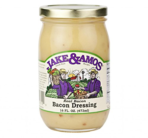 Jake & Amos Homemade Bacon Dressing, Famous in Amish Country, Pint (Pack of ()