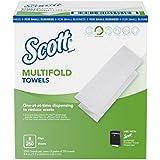 "Scott Multi-fold Paper Towels for Small Business (49183), 9.2"" x 9.4"", 8 Clips per Case"