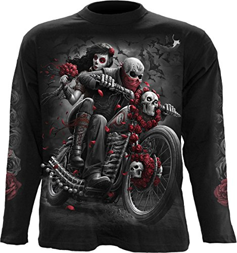 Spiral - Mens - DOTD Bikers - Longsleeve T-Shirt Black - XXL (Day Of The Dead Long Sleeve T Shirts)