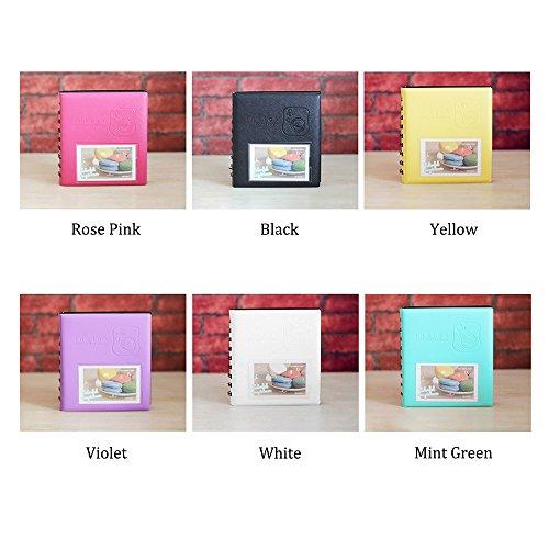 Jia Hu Mini 64bolsillos álbum de fotos para Fujifilm Instax Polaroid tamaño espiral álbumes imagen Case libro de...