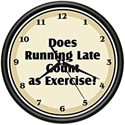 SignMission Running Late Wall Clock Exercise Funny Office Home Decor Gift, Beagle