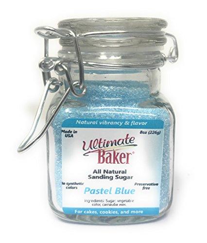 Price comparison product image Ultimate Baker Natural Sanding Sugar - Fine Crystal (Pastel Blue,  3oz)